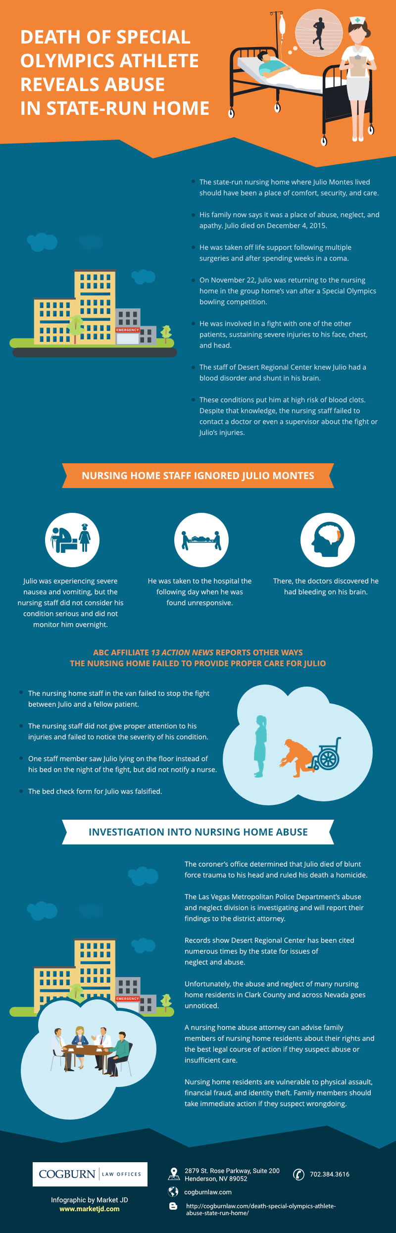 State Run Care Facility Abuses Infographic