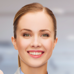 smiling young woman icon