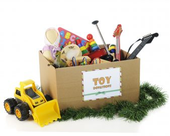 A box of toys, personal injury children safety