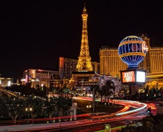 Las Vegas city night view, casino personal injuries