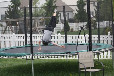 child in Trampoline, personal injury