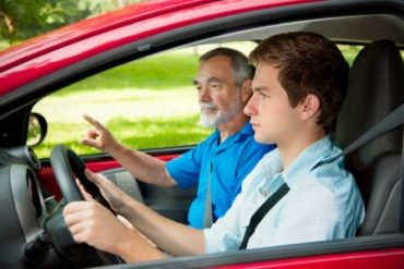 a teen driver and an instructor, car accident