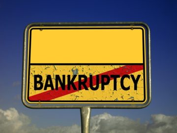 bankruptcy sign, debt lawyer