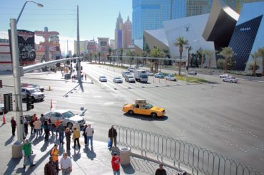 pedestrian barriers on street, las vegas accident lawyer