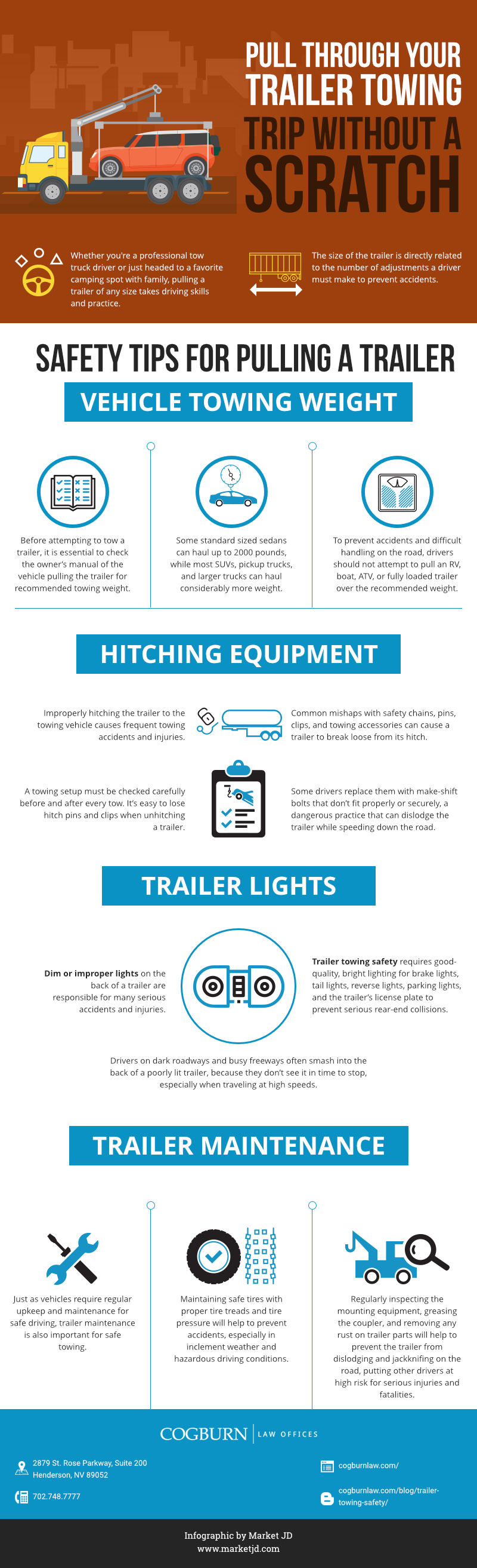 tips for pulling a trailer safely INFOGRAPHIC