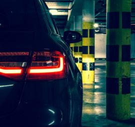 a car in a parking garage, slip and fall lawyers